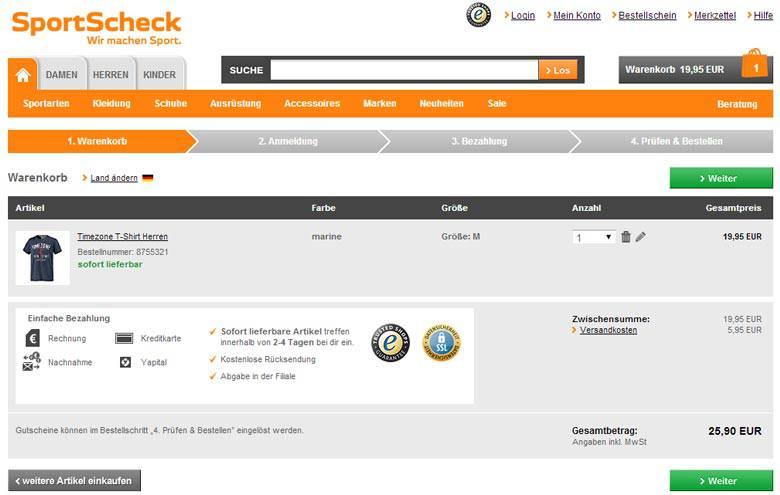 Gutschein Sportscheck Online