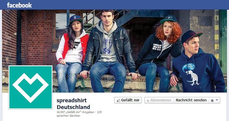 Spreadshirt bei Facebook