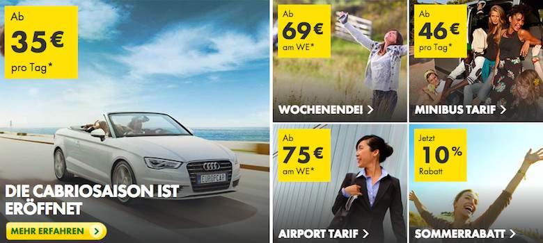 Mietwagen Angebote im Europcar