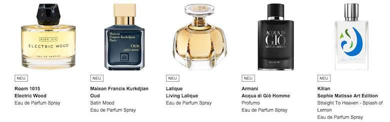 Sortiment im Parfumdreams