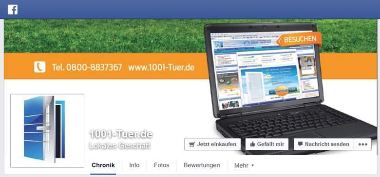 1001-Tuer bei Facebook