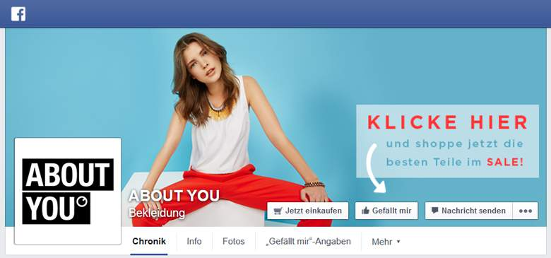 Facebook von About You