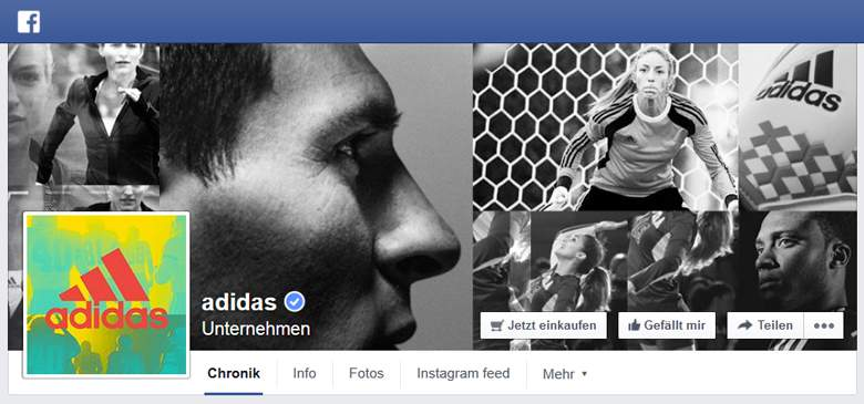 Adidas bei Facebook