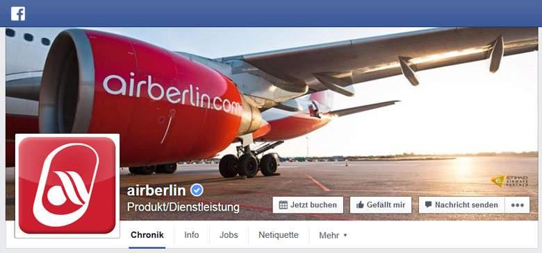 Facebook von Airberlin