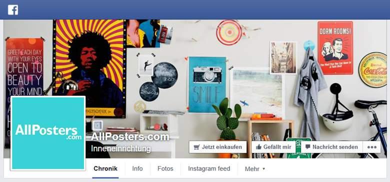Facebook von AllPosters
