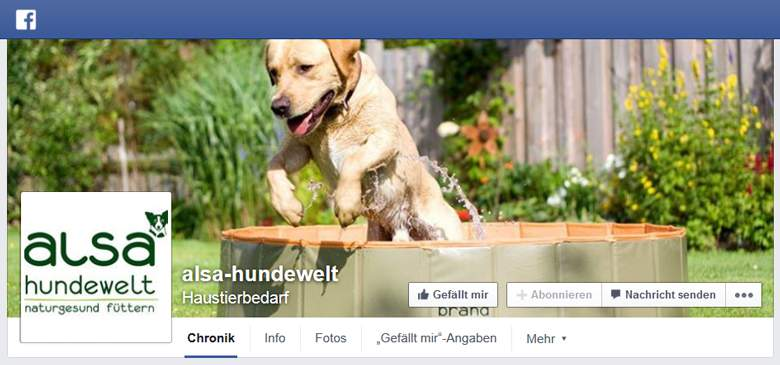Alsa Hundewelt bei Facebook