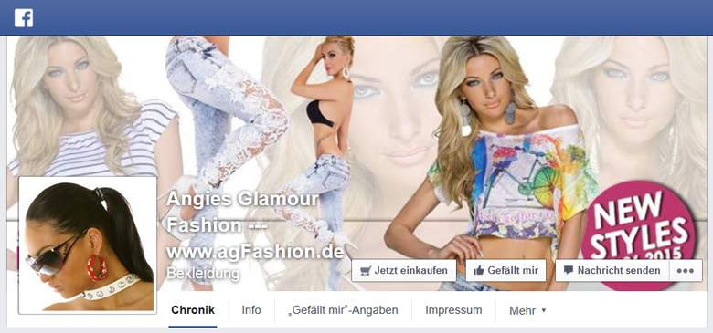 Facebook von Angies Glamour Fashion