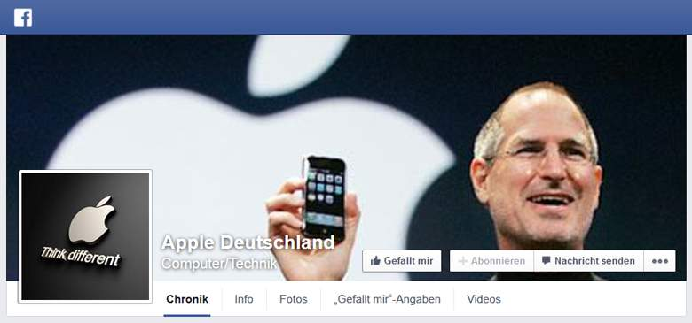 Apple bei Facebook
