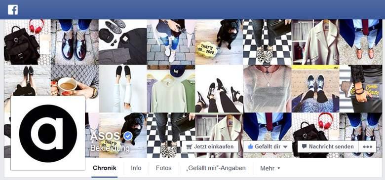 asos bei facebook