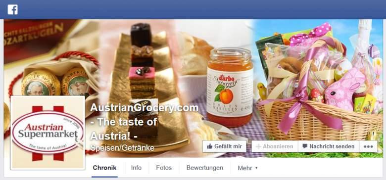 Facebook von Austrian Supermarket