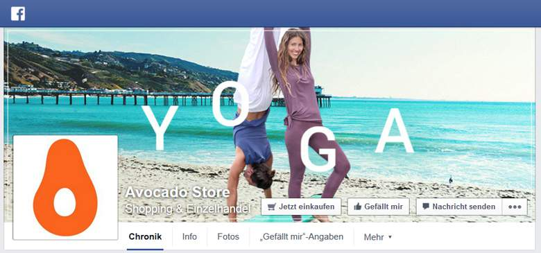 Avocado Store bei Facebook