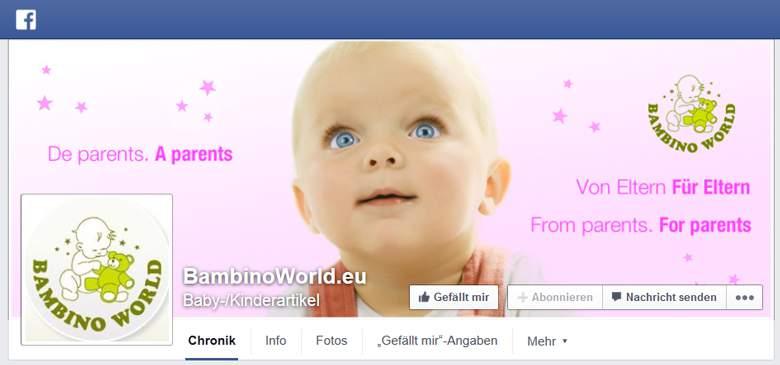 Bambino World bei Facebook