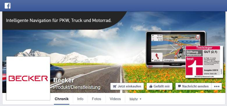 Becker bei Facebook