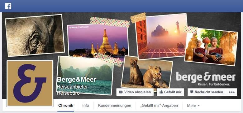 Berge und Meer bei Facebook