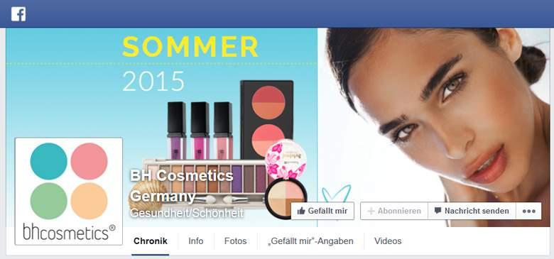 Facebook von Bh Cosmetics