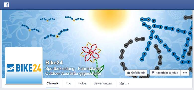 Bike24 bei Facebook