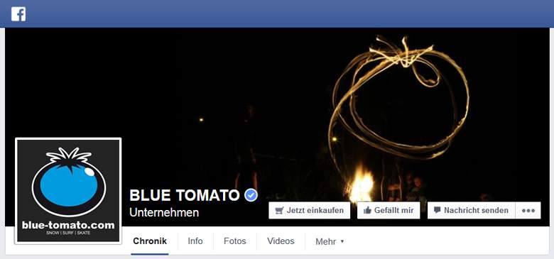 Blue Tomato bei Facebook