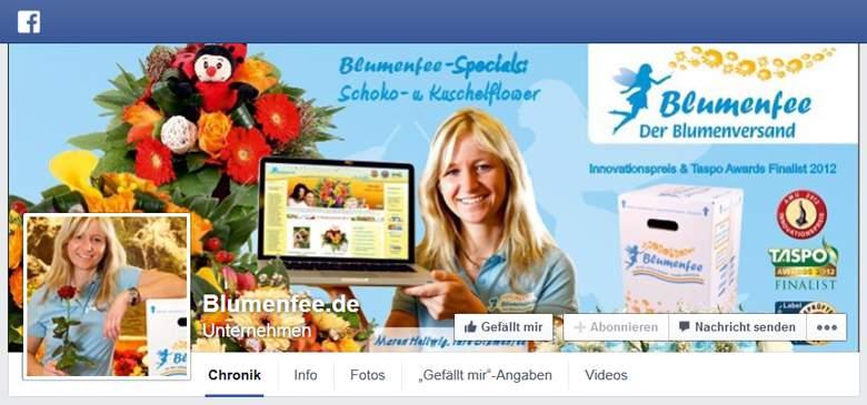 Blumenfee bei Facebook