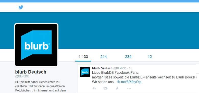 Twitter von Blurb