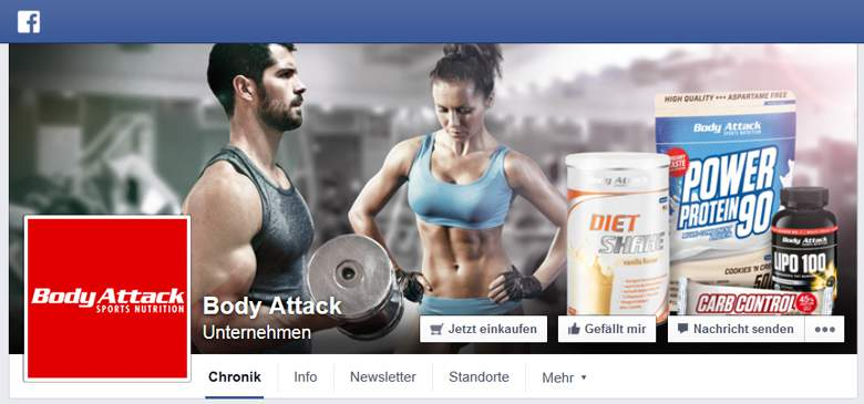 Body Attack bei Facebook