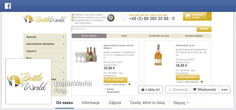 BottleWorld bei Facebook