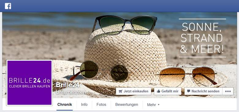 Brille24 bei Facebook