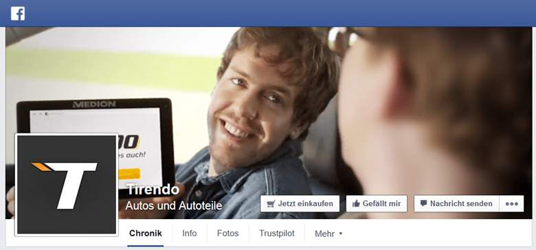 Facebook von Tirendo
