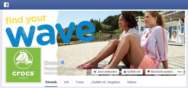 Facebook von Crocs