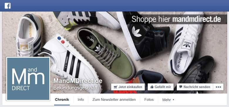 Facebook von MandMdirect