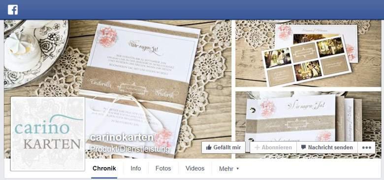Facebook von Carinokarten