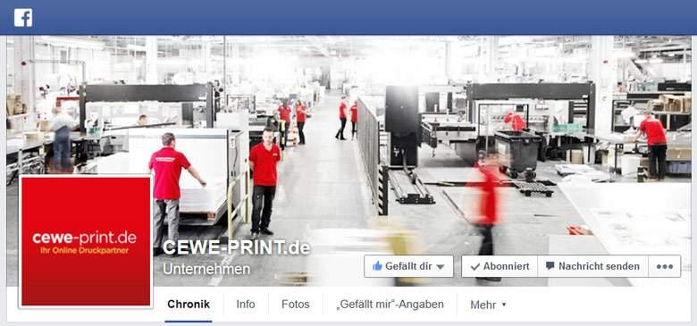 Facebook von cewe-print