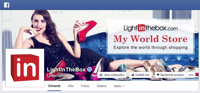 Facebook von LightInTheBox