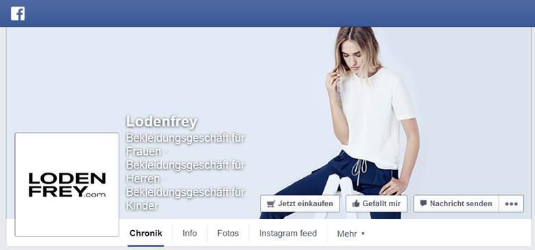 Facebook von Lodenfrey