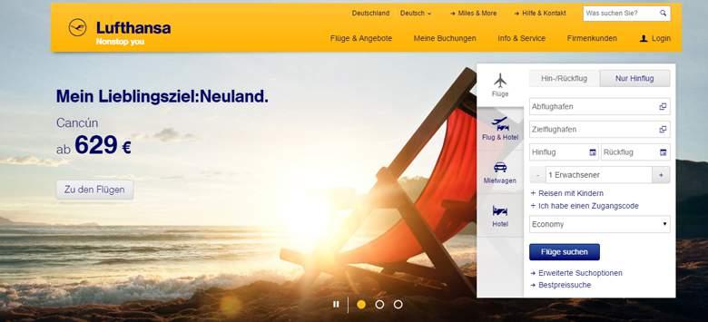 Lufthansa Homepage