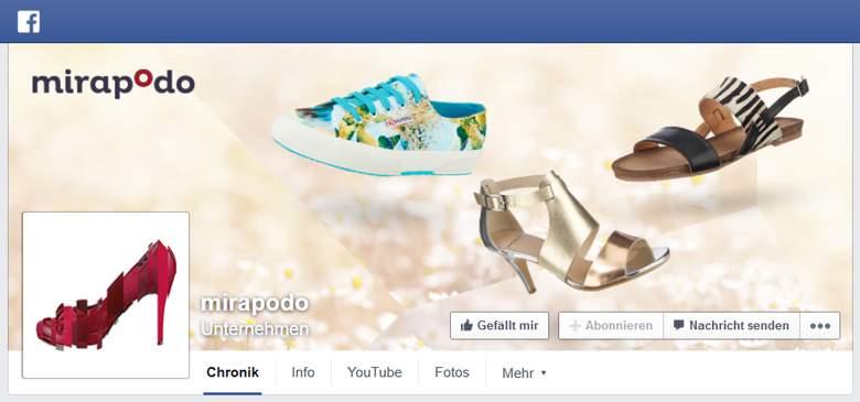 Facebook von Mirapodo