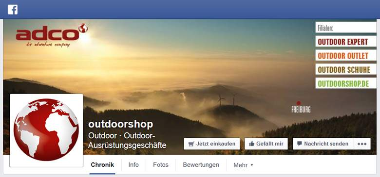Facebook von Outdoorshop