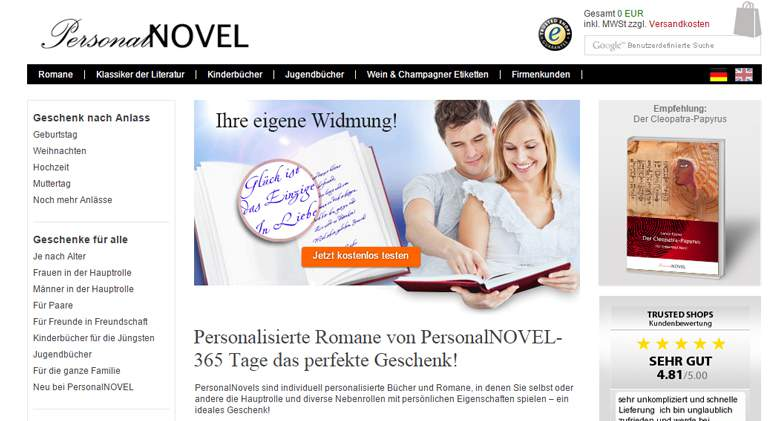 PersonalNOVEL Shop
