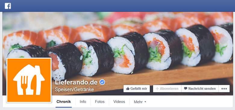 Facebook von Lieferando