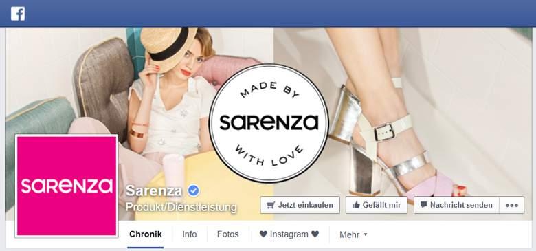 Facebook von Sarenza