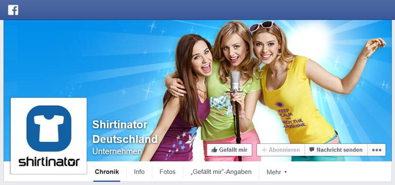 Facebook von Shirtinator