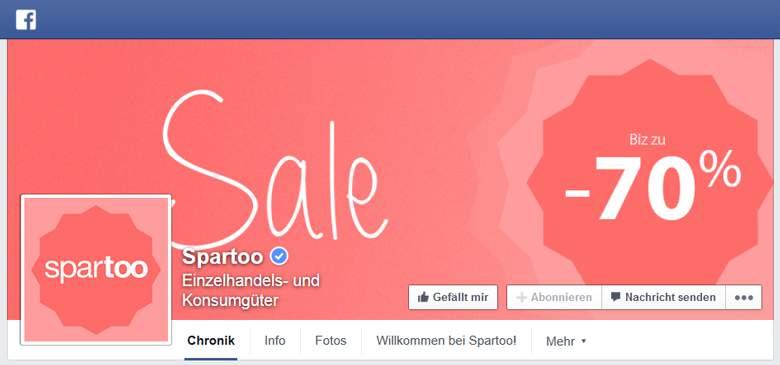 Facebook von Spartoo
