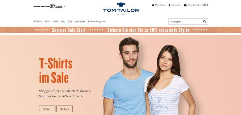 Tom Tailor Shop