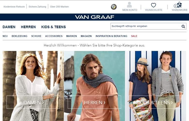 VAN GRAAF shop