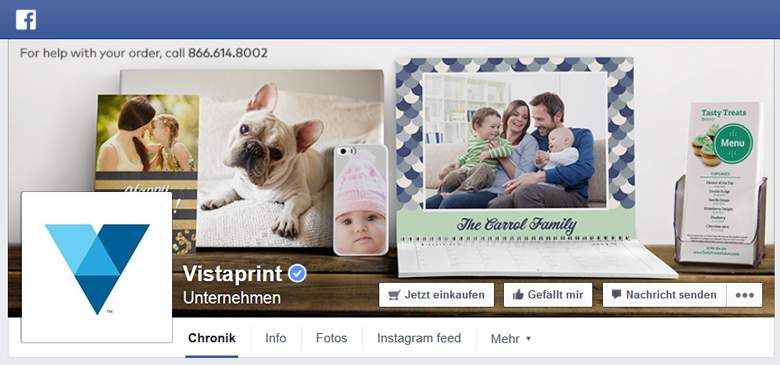 Vistaprint bei Facebook
