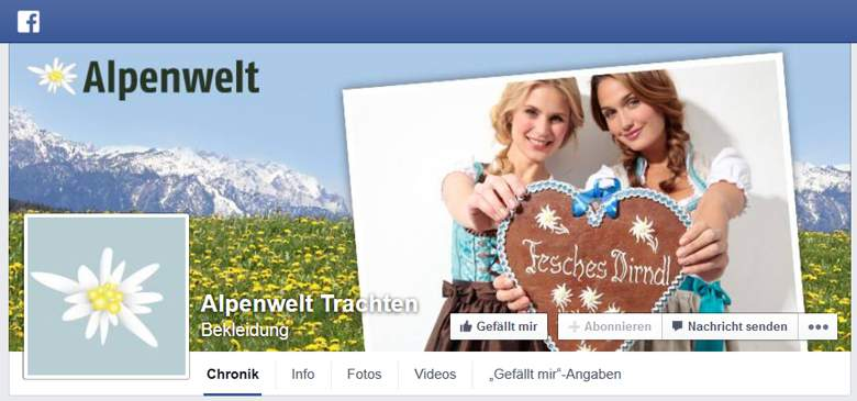 Alpenwelt bei Facebook