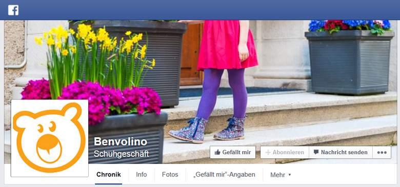 Benvolino bei Facebook