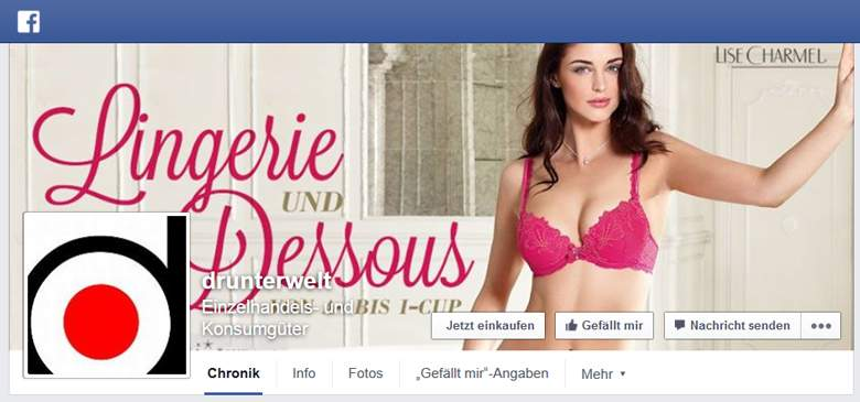 Bigsize Dessous bei Facebook