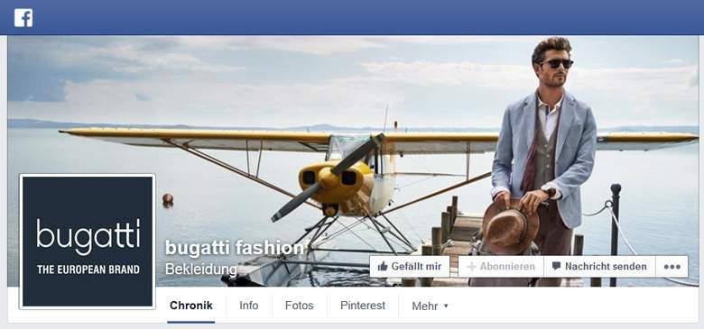 Bugatti bei Facebook