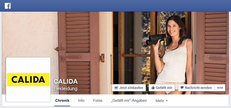 Calida bei Facebook