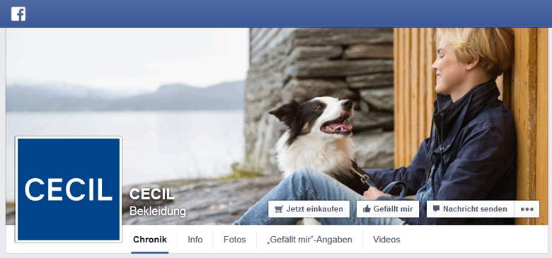 Cecil bei Facebook